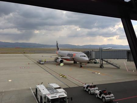 関空に到着した機体