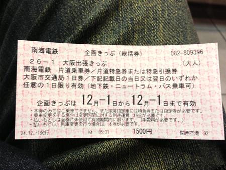 南海 大阪出張きっぷ