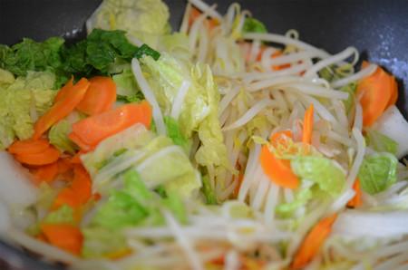 野菜炒め上がり