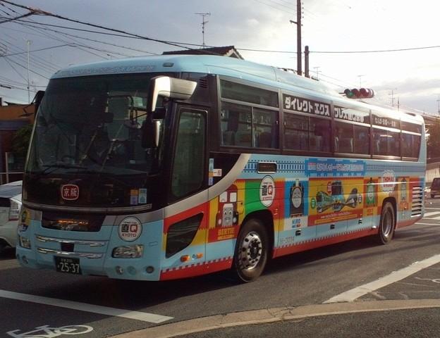 京阪バス 直Q トーマス号 京都行