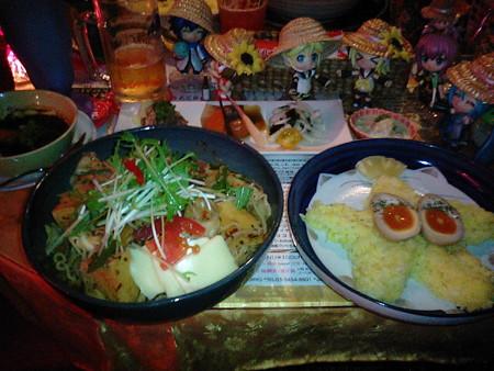 【チンギスハーン・虚空】 トッピング:むし麺だばぁモモチーズ高野豆...