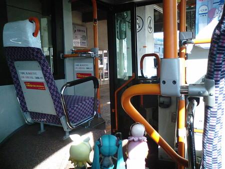 むつバスターミナル停車。下北駅→大間は約1時間50分のバスの旅。...
