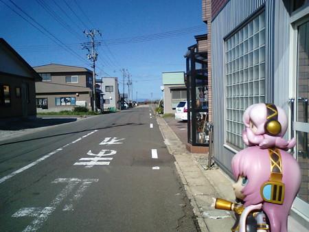 国道279号は、ここから函館へ向けて、まっすぐ海へ突っ込んでいきます...