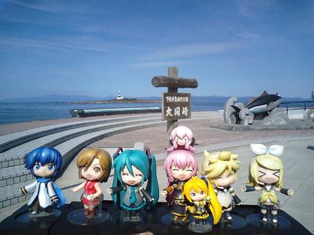 ルカ:「とうとう着きました、大間崎!!」 リン:「本州最北端だゅ...