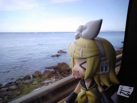 立石付近。リン:「晴れてたのは、大間崎の先っちょのあたりだけだっ...