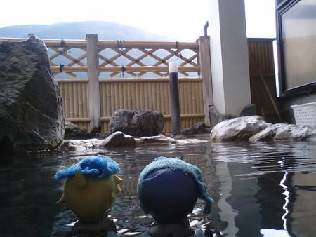 露天風呂なう。 レン:「ほんにえぇーきんもづ(≧▽≦) 兄:「もう...