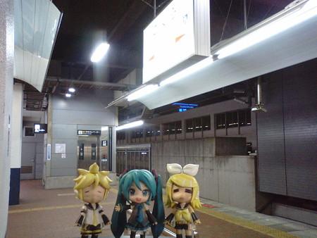 ミク:「小倉駅に、無事定刻に着きましたー! 下関まで、電車もう1...