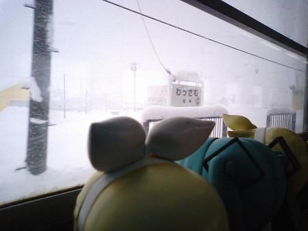 和寒駅に停車。 リン:「わっ寒そう!!」 レン:「いや冗談じゃなく...