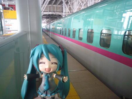 ミク:「新青森駅に到着です! 函館方面が大変なことになってるらし...