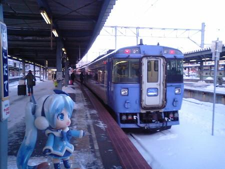 雪ミク:「では千歳まで参りましょう! 特急「北斗97号」はキハ183系...