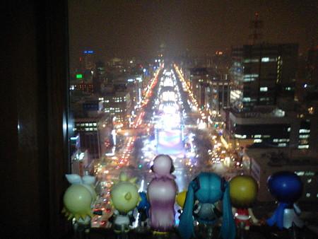 リン:「テレビ塔展望台90mからの雪まつり夜景なう♪」 ミク:「きゃあ...