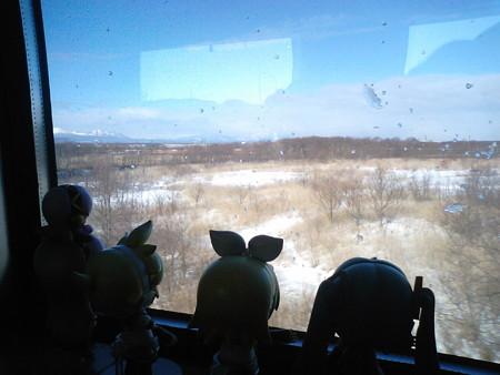 南千歳→苫小牧間、沼ノ端付近。 リン:「大原野なうー♪」