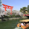 Photos: 十石舟が浮かぶ 京都・平安神宮周辺