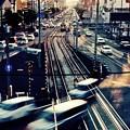写真: The crossing of twilight. I was on the bridge.