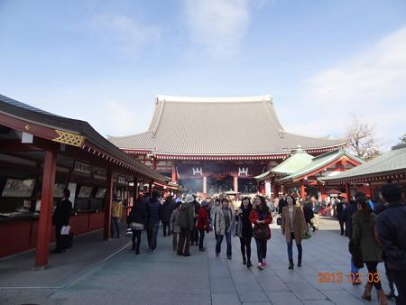 浅草浅草寺で一月遅い初詣