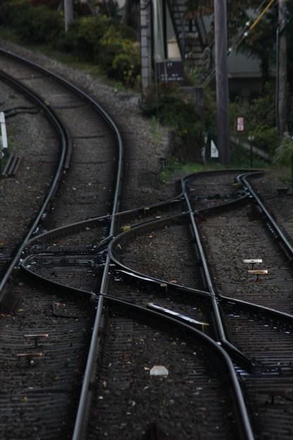 落差のある線路