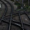 写真: 落差のある線路