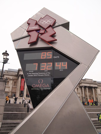 London Olympics countdown clock