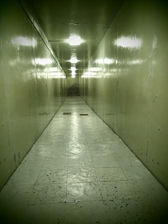当時のままの廊下