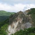 写真: 日和山と大湯沼