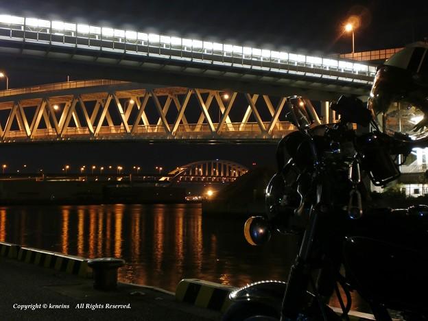 六アイ大橋 南魚崎ライナーst と 住吉浜出入橋