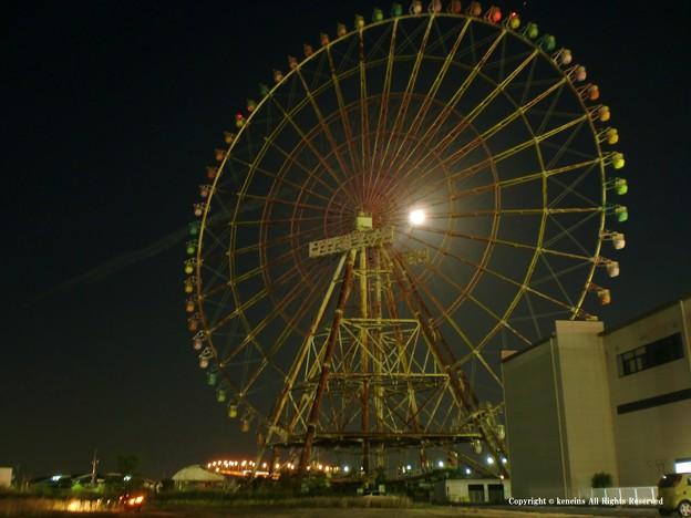 琵琶湖の橋と月とーー