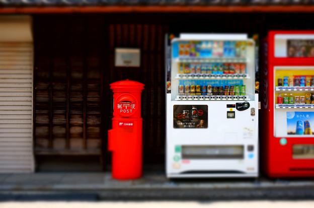 自販機とポストの関係