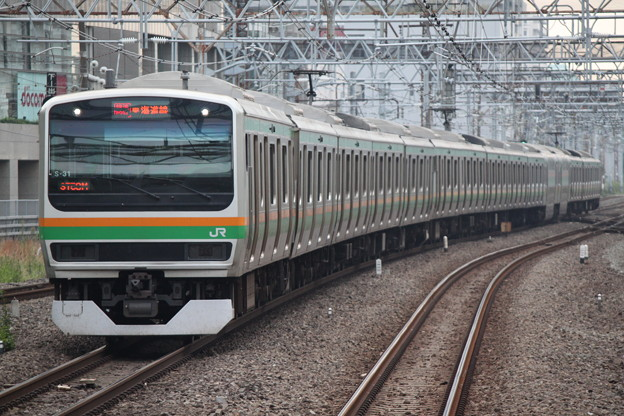東海道線E231系1000番台 S-31編成 快速アクティー