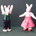 クレイウサギ 子供2体完成