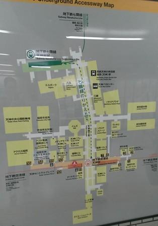 2013年飾り山おすすめ見学ルート14天神駅地下地図