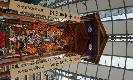01 博多祇園山笠 飾り山 博多駅 2013年 女戦士八重の桜写真02