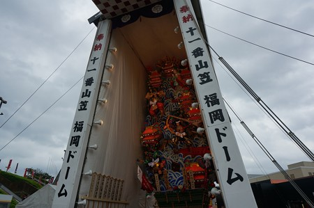 15 博多祇園山笠 2013年 福岡ドーム 飾り山笠 源平壇之浦決戦 写真03