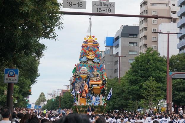2013年7月15日 博多祇園山笠 追い山 写真33走る飾り山笠