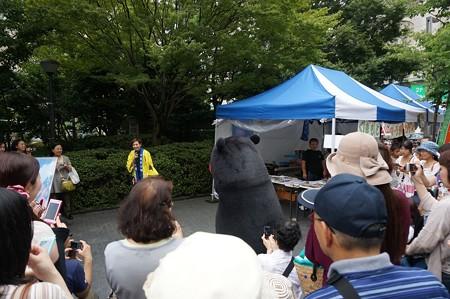 2013年7月26日 福岡市役所ふれあい広場 山鹿市観光物産展 山鹿灯籠まつり くまモン05