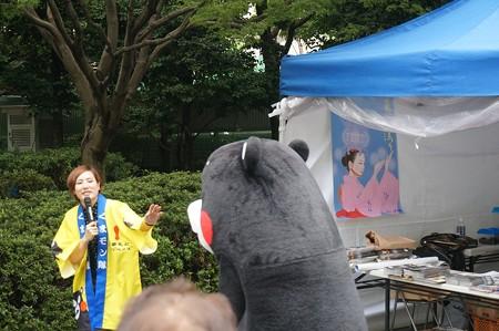 2013年7月26日 福岡市役所ふれあい広場 山鹿市観光物産展 山鹿灯籠まつり くまモン10