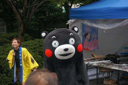 2013年7月26日 福岡市役所ふれあい広場 山鹿市観光物産展 山鹿灯籠まつり くまモン11