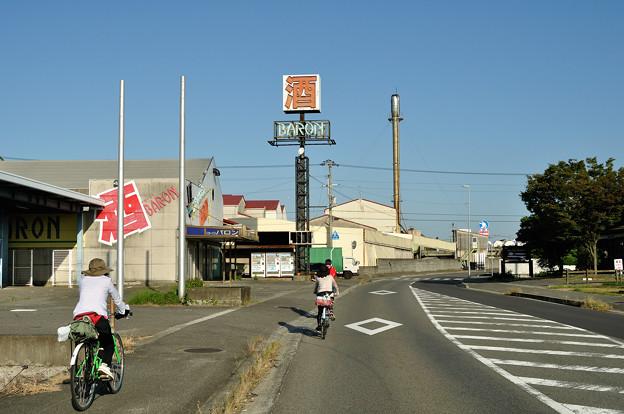 東予港から同じくしまなみ海道を目指しているお姉さんたちと一緒に走りました