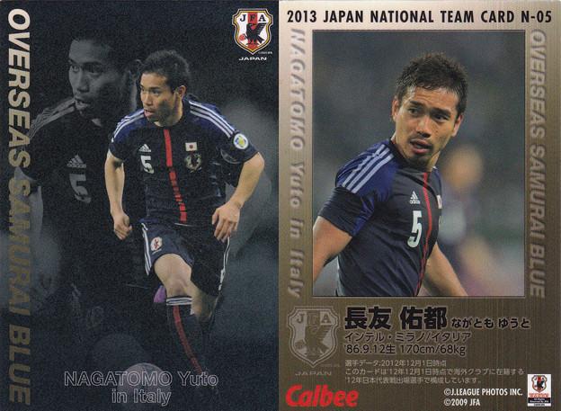 日本代表チップス2013N-05長友佑都(インテル)