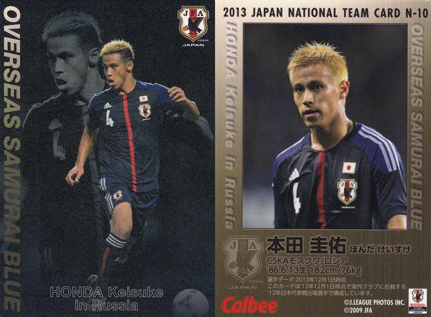 日本代表チップス2013N-10本田圭佑(CSKAモスクワ)