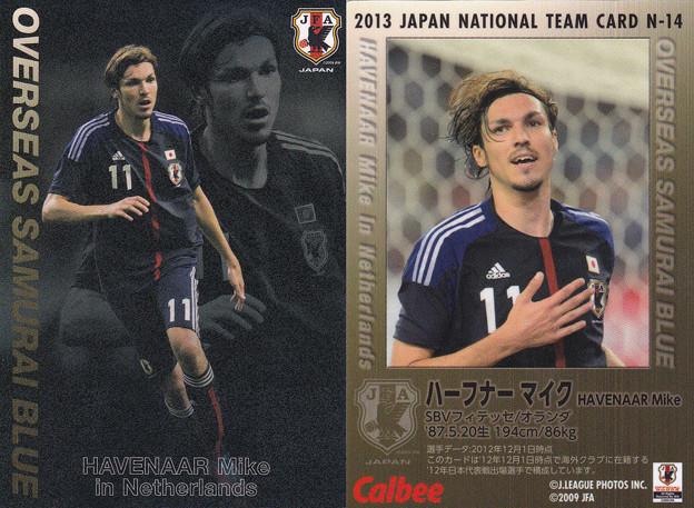 日本代表チップス2013N-14ハーフナーマイク(フィテッセ)