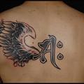 タトゥー 大阪 刺青/刺青画像,背中タトゥー,ブラック&グレー,羽,梵字のタトゥー,ワンポイントタトゥー,タトゥーデザイン