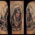 タトゥー 大阪 刺青 タトゥー画像,ワンポイントタトゥー,ブラック&グレー,マリア,文字タトゥー,薔薇