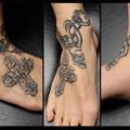 トライバル タトゥー 十字架 クロス 刺青画像 タトゥーデザイン
