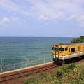 山陰本線 日本海と広島色キハ48