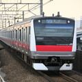 Photos: EF70-200mm F4LISをAFで使う(E233系・舞浜駅)