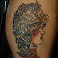 Photos: 馬とトラッドガールのタトゥー trad girl with horse tattoo