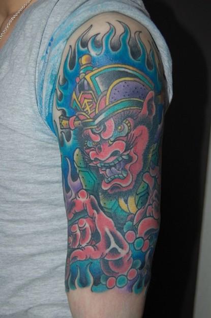 Photos: 閻魔大王のタトゥー Great King Yama Tattoo