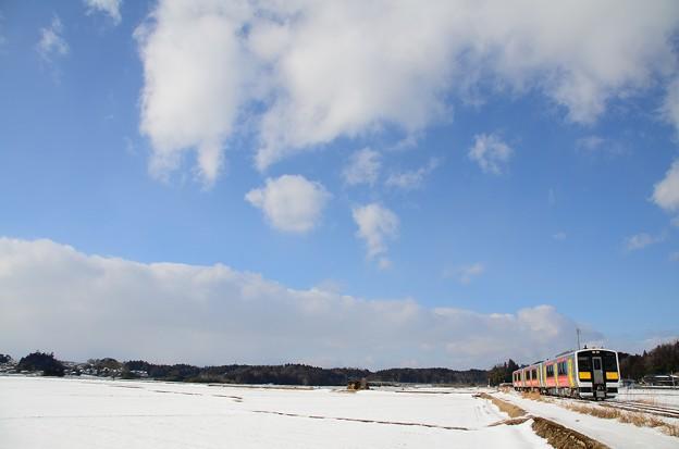 雪の水郡線を撮ってみた 2