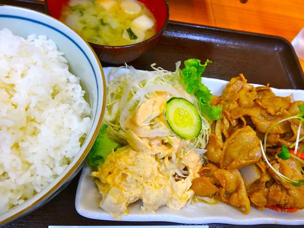 定食屋イワイ 日替定食 豚しょうが焼き 広島市南区東雲本町