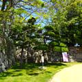 史跡 広島城本丸下段 石垣 Historical ruins of Hiroshima castle lower part of main compound stone walls 広島市中区基町